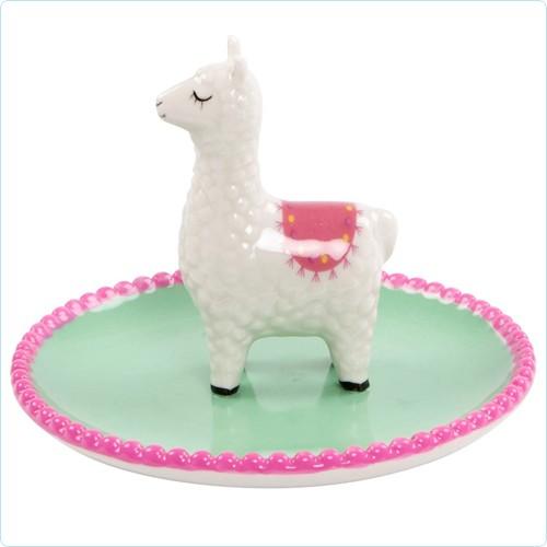 "Keramik-Schale/Schmuckteller ""Lama"""
