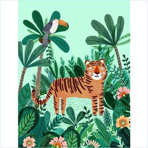 "Poster ""Tiger"" Rebecca Jones 50x70 cm"