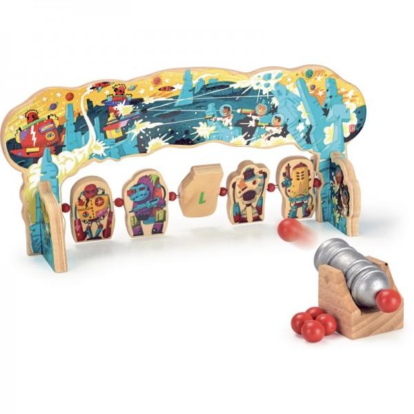 """Ziel-Spiel Murmel-Kanone """"Roboter"""""""