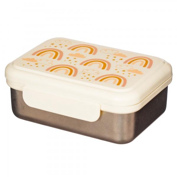 "Edelstahl-Lunchbox ""Pastell Regenbogen"""