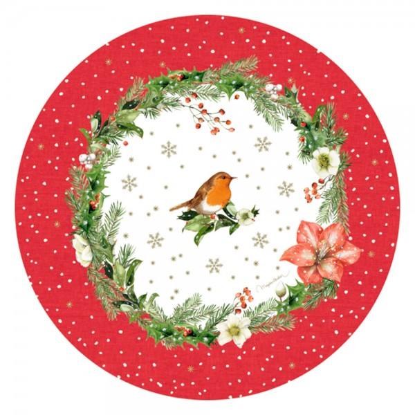 """Melamin-Platzteller """"Zauberhafte Weihnachten"""" M. Bastin"""