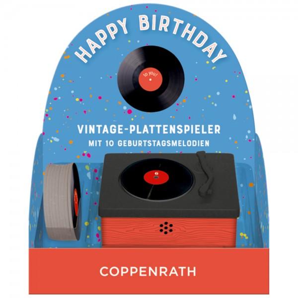 """Vintage-Plattenspieler """"Happy Birthday"""" 10 Geburtstagsmelodien"""