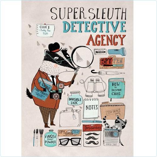 "Poster ""Detective Agency"" Rebecca Jones 50x70 cm"