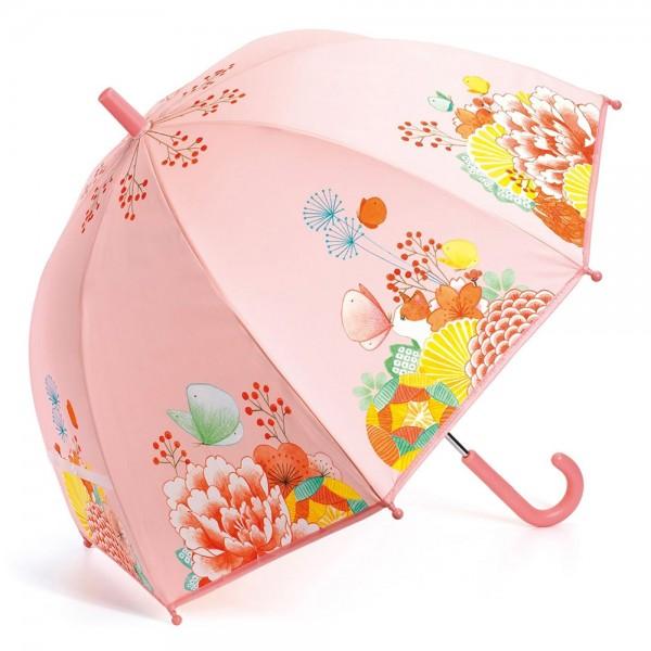 """Kinder-Regenschirm """"Gartenblumen"""" rosa"""