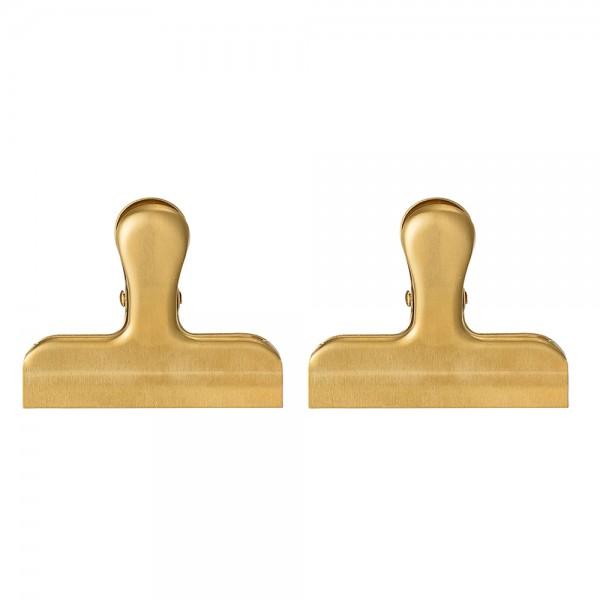 """2er-Set Große Clips """"Gold"""" L 8 cm"""
