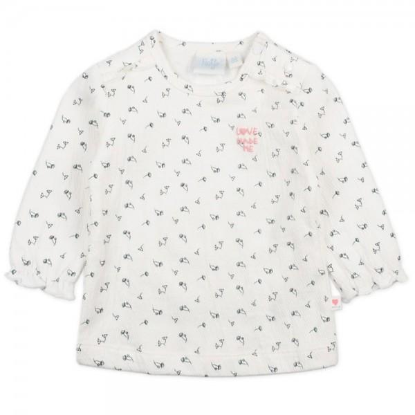 """Bio Baby-Shirt """"Kleine Blüten - Love made me"""" natur"""