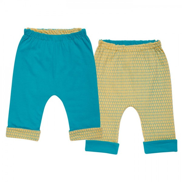 """Baby-Wende-Hose """"Turquoise & Tippies"""""""