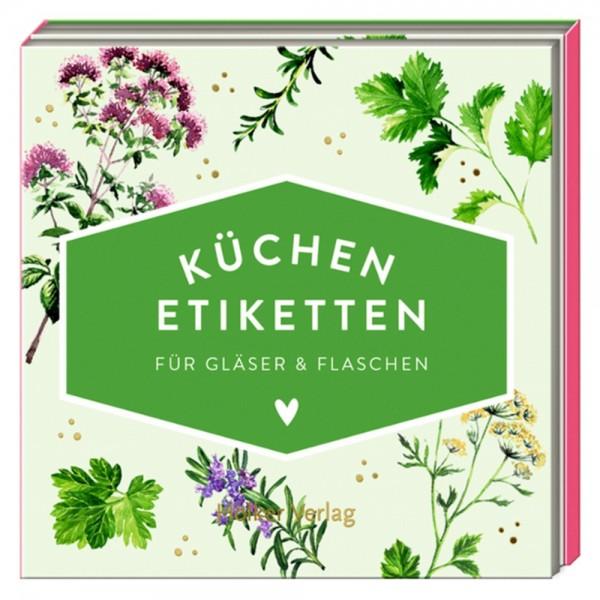 """Küchen-Etiketten """"Kräuter"""" Küchenpapeterie"""