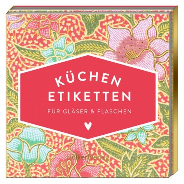 """Küchen-Etiketten """"Pinke Blumen"""" Küchenpapeterie"""