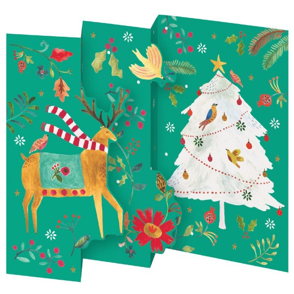 "Lose Tri-Fold-Karte ""Merry and Bright Reindeer"""