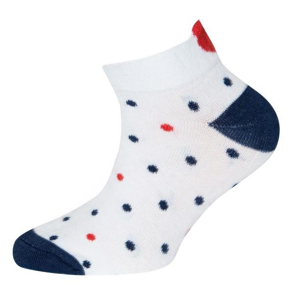 """Socken """"Herzen & Punkte"""" weiß"""