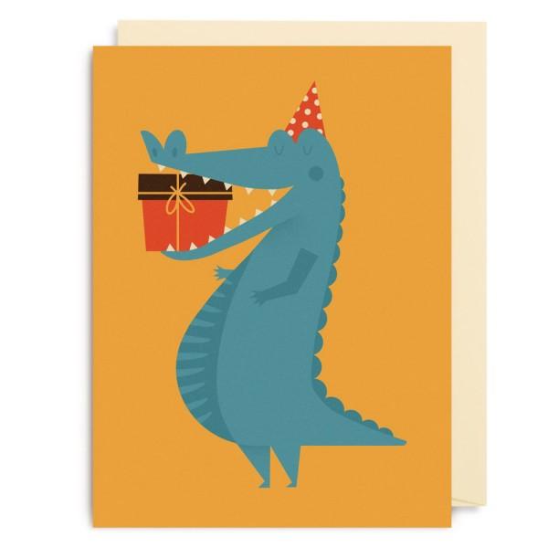 "Kleine Klappkarte ""Crocodile Gift"" Dawid Ryski"