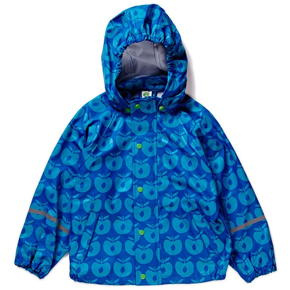 "Regenjacke ""Äpfel"" blau"