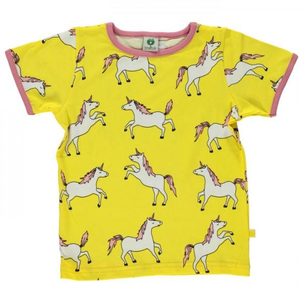 """Bio-Kurzarm-Shirt """"Einhorn"""" gelb"""
