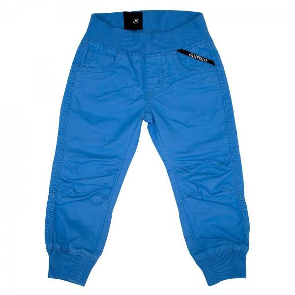 Canvas-Bündchenhose blau