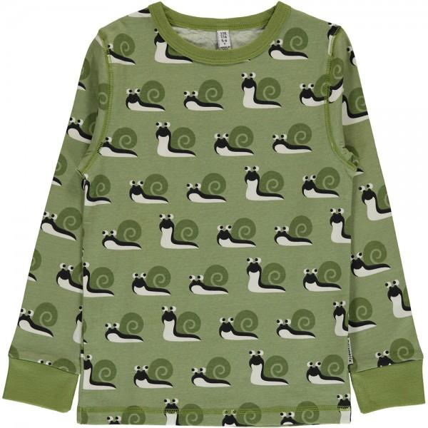 """Shirt """"Schnecken"""" salbeigrün"""
