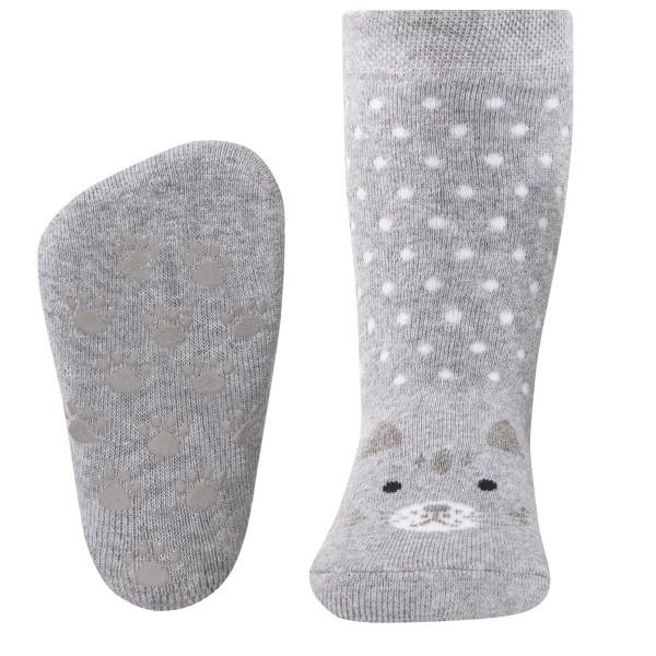 "ABS-Socken ""Kätzchen"" beige melange"