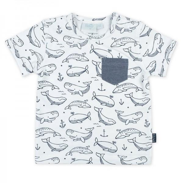 """Bio Baby-Kurzarm-Shirt """"Wale"""" weiß"""