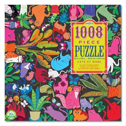 """Puzzle 1008 Teile """"Katzen bei der Arbeit"""""""