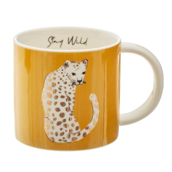 "Keramik-Tasse ""Leopard"""