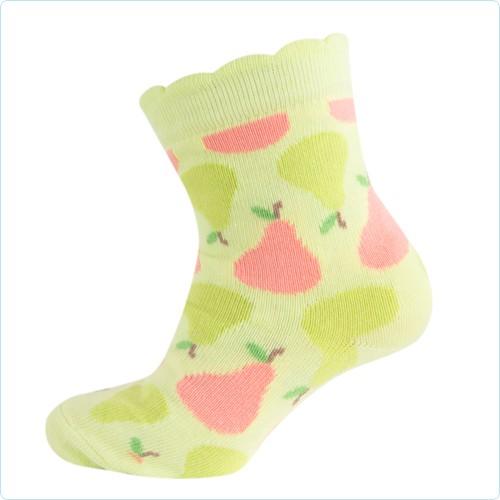 Melton Mädchen-Socken Birnen sunny lime