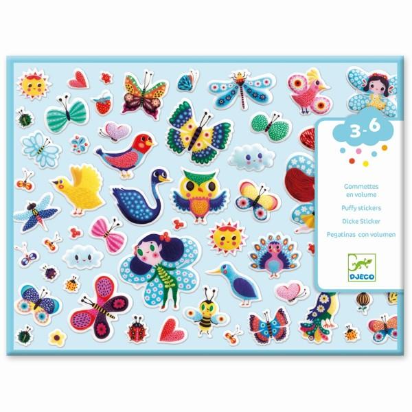 """120 Puffy-Sticker """"Kleine Flügelwesen""""  3-6 J"""