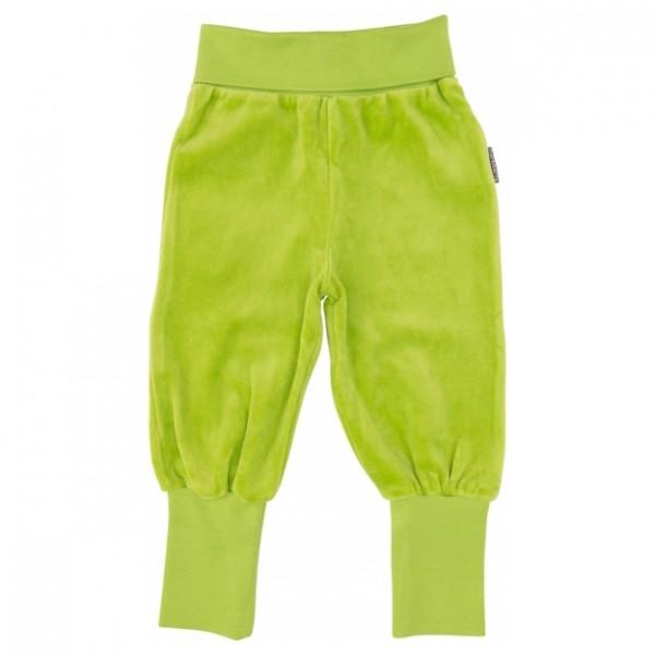 Maxomorra Baby-Bündchenhose VELOUR limegrün