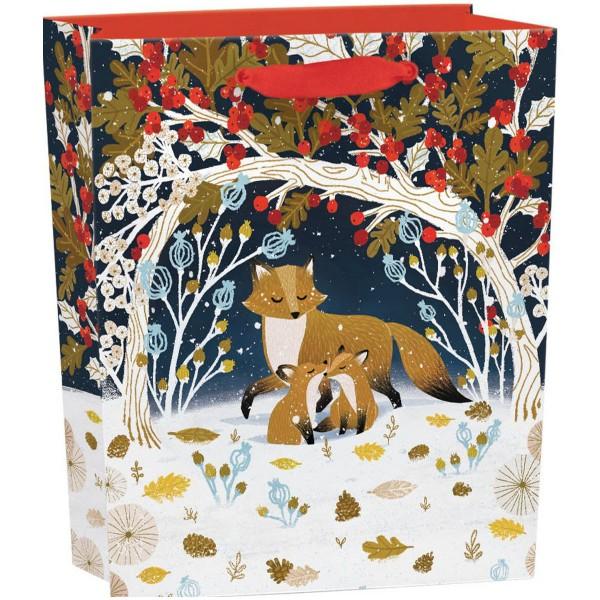 """Geschenktüte """"Paw Prints in the Snow"""" hoch H 31 cm"""