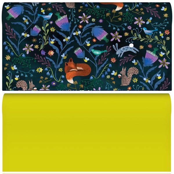 "Geschenkpapier ""Lodestar Night Sleeping Fox"" 2-seitig"