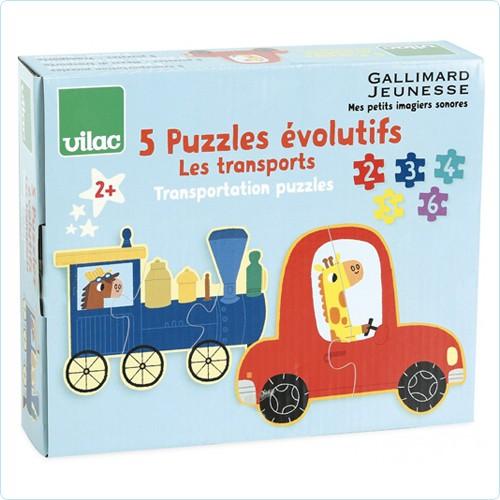 """Lern-Puzzle  2-3-4-5-6 Teile """"Fahrzeuge"""""""