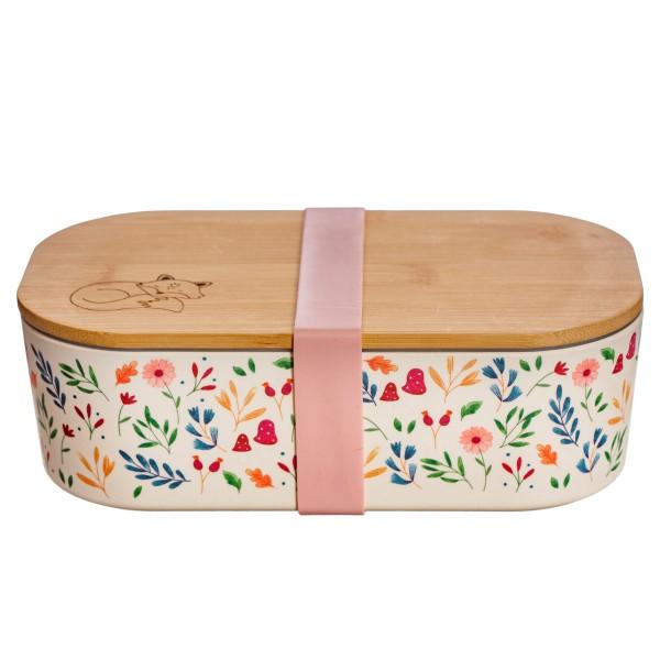 """Bambusfaser-Lunchbox mit Bambusdeckel """"Waldtiere"""""""