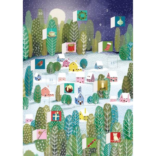 """Adventskalender-Klappkarte """"Let it snow"""""""