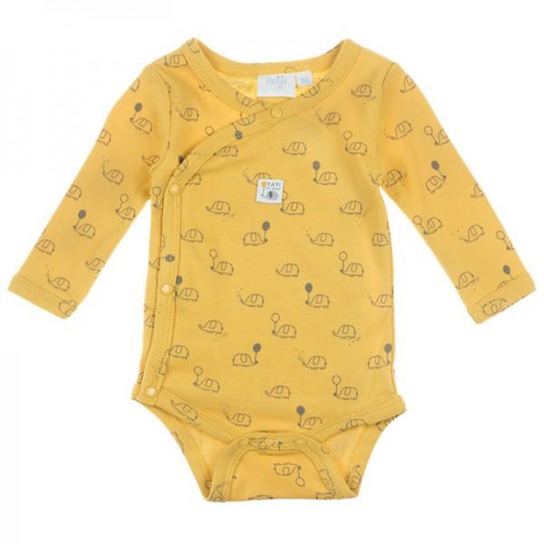"""Bio Baby-Wickelbody """"Elefanten"""" gelb"""