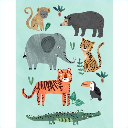 """Poster """"Tiere der Wildnis"""" Rebecca Jones 50x70 cm"""