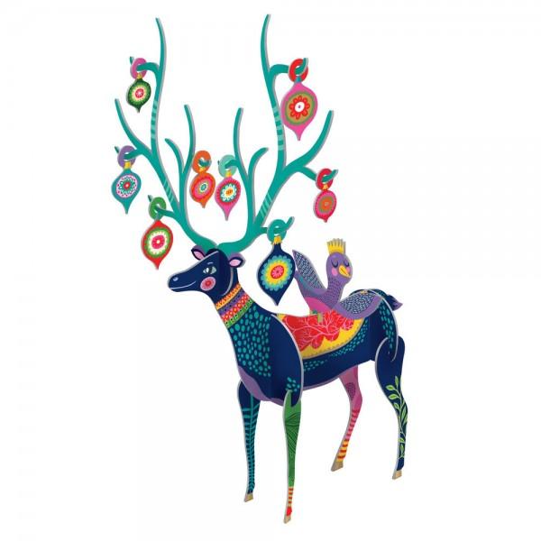 """3D Dekoration Pop&Slot """"Folksy Reindeer Large"""""""