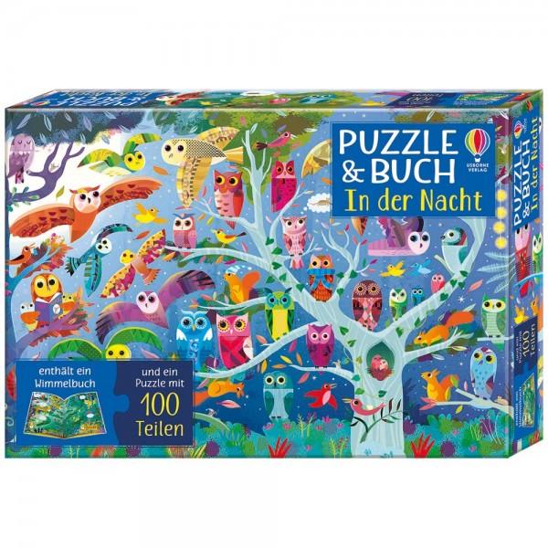 """Puzzle 100 Teile und Buch """"In der Nacht"""""""
