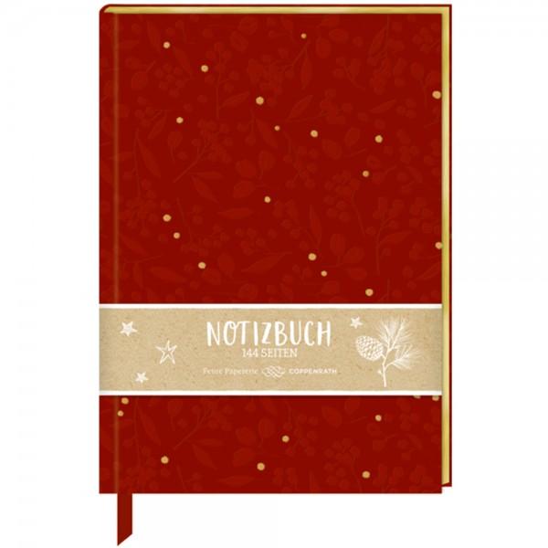 """Samt-Notizbuch Stoffeinband """"Beeren & Blätter"""""""