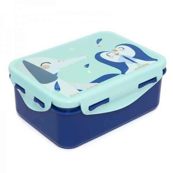 "Lunchbox ""Elefant & Pinguine"" blau"