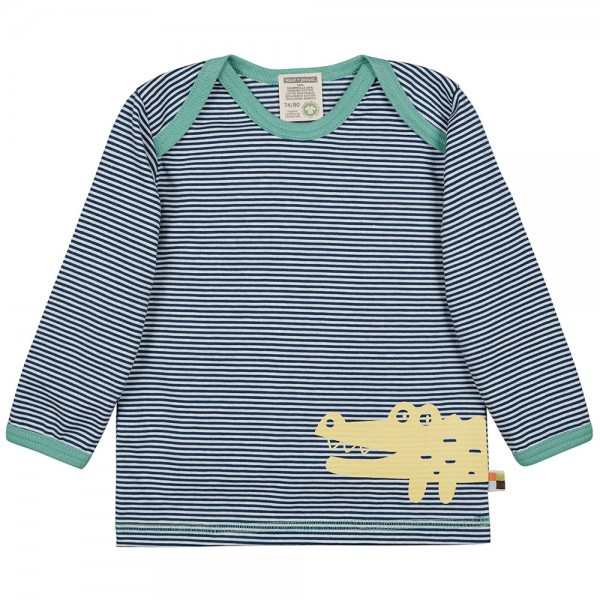 "Shirt ""Ringel Krokodil"" ultramarin"