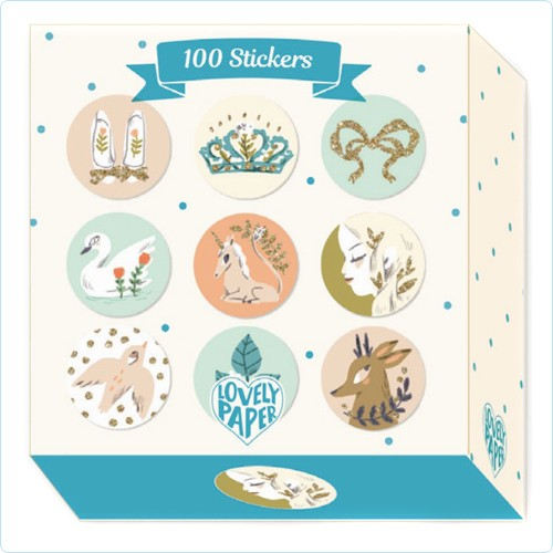 "100 Sticker ""Lucille"" Glanzfolie"