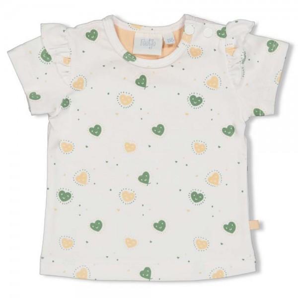 "Baby-Kurzarm-Shirt ""Herzen"" weiß"