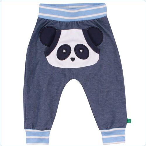 """Bündchenhose """"Front-Applikation Pandabär"""" denim"""