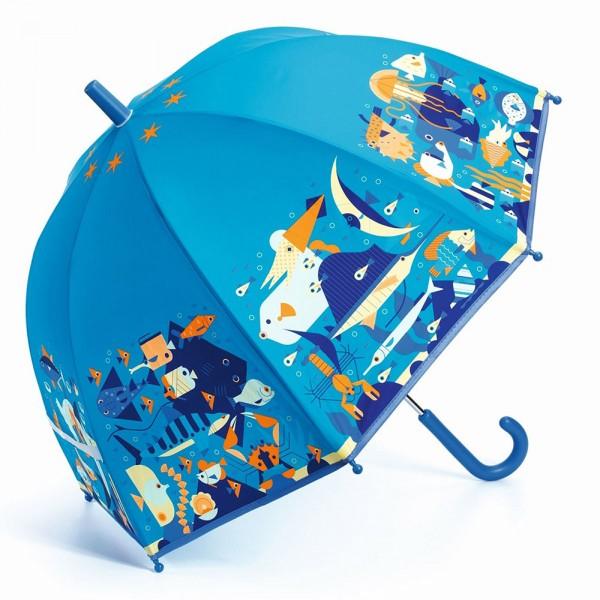 """Kinder-Regenschirm """"Meerestiere"""" blau"""