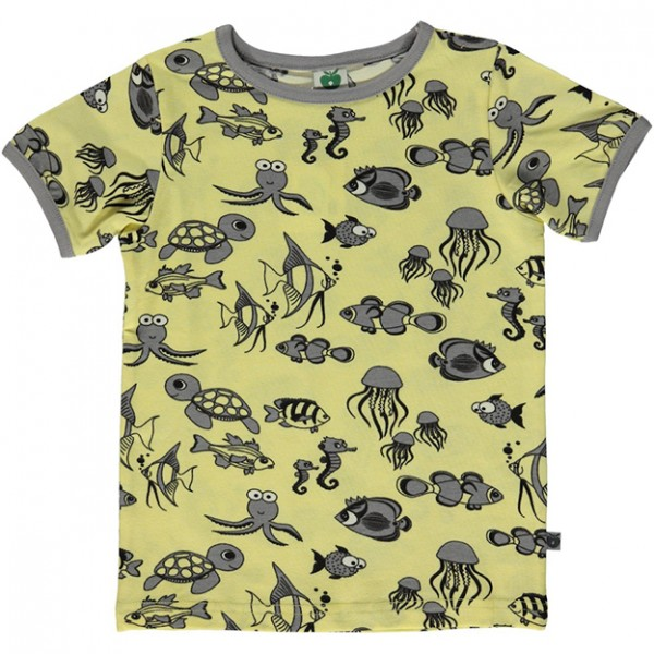 "Kurzarm-Shirt ""Meerestiere"" gelb"