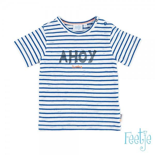 """Kurzarm-Shirt """"Ringel Ahoy"""" weiß/blau"""