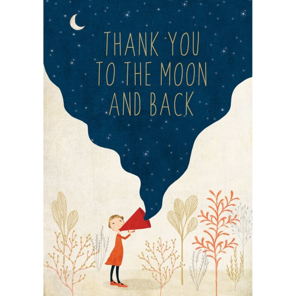 """Klappkarte """"Thank You to the Moon and back"""""""