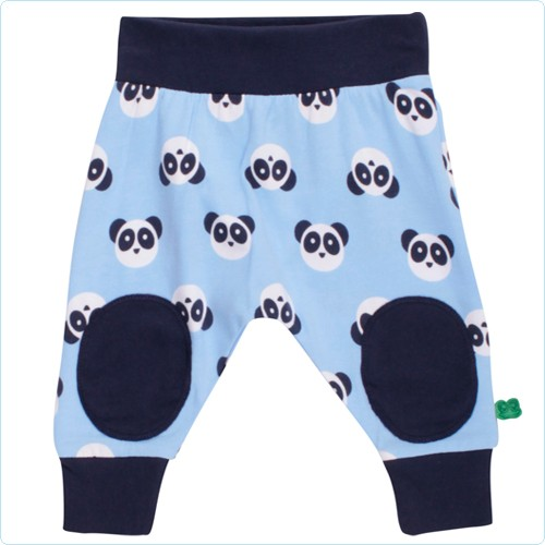 "Bündchenhose mit Kniepatch ""Pandabären Allover"""