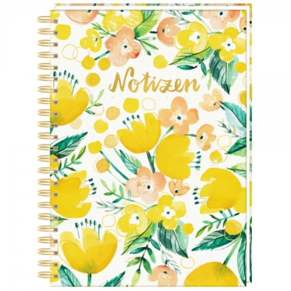 """Ringbuch DIN A4 """"All about yellow"""" Notizen"""