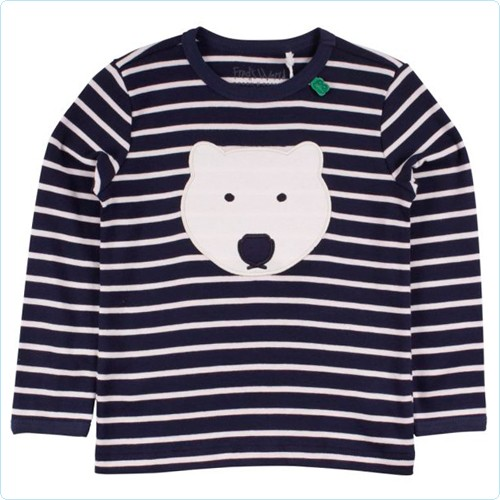 """Shirt KIDS """"Streifen & Eisbär"""" navy/cream"""