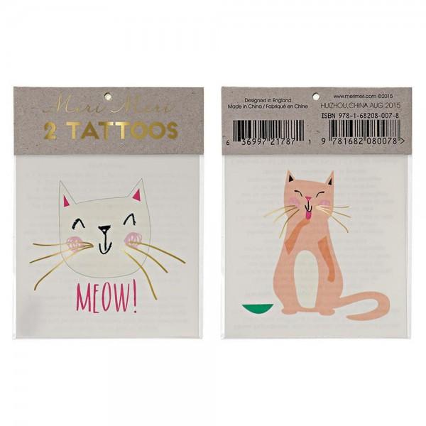 """2 Tattoos """"Katzen - Meow!"""""""